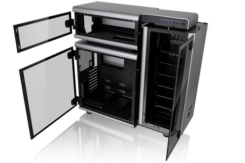 Thermaltake Level 20 Full-Tower Chassis-Open Aluminum Modular Structural Statement with 4mm Thick Tempered Glass